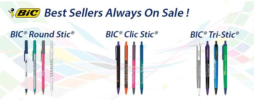 BIC Best sellers are always on sale! BIC Round Stic, BIC Clic Stic, and BIC Tri-Stic styles on sale now!