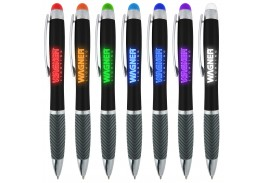 Black Logo Light Up Stylus Pen