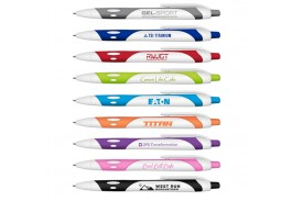 Gel-Sport Soft Touch Rubberized Hybrid Ink Gel Pen with White Barrel