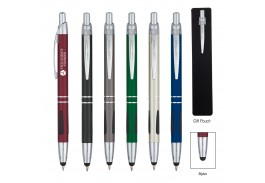 Aluminum Ball Pen With Stylus