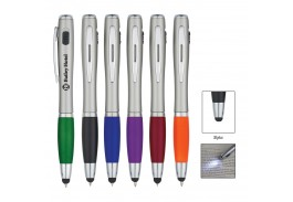 Trio Pen With Led Light & Stylus