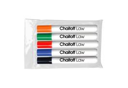 Dry Erase Chisel Tip 5 Pack