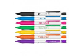 White Mechanical Pencils with Rubber Grip