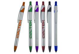 Slim Jen Stylus Silver Ballpoint Pen