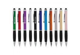 Jada Stylus Twist Action Ballpoint Pen with Rubber Grip