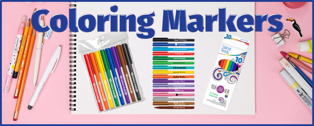 Custom Promotional Coloring Markers, Personalized Coloring Markers
